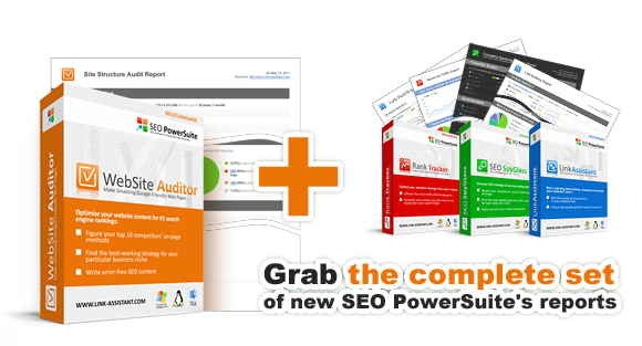 New on-page SEO reports in WebSite Auditor