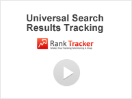 Universal Search Results Tracking