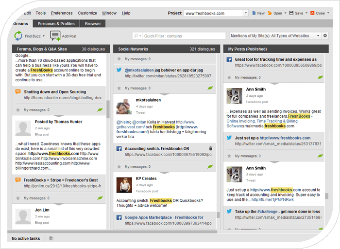 Monitor social mentions in BuzzBundle