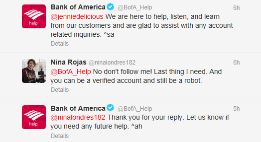 bank of america automated account