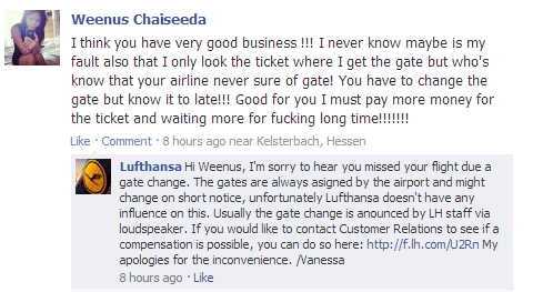 lufthansa customer is mad