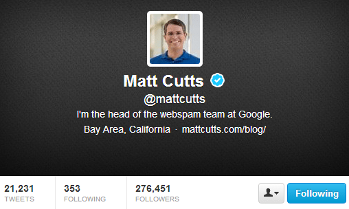 matt cutts twitter
