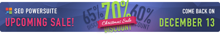 SEO PowerSuite Christmas Sale 2016