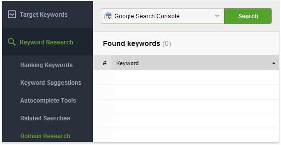 Domain research module