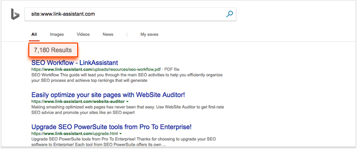 bing indexing