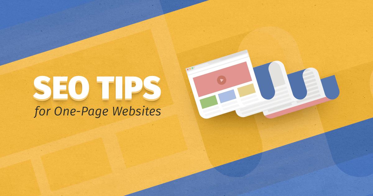 single page websites
