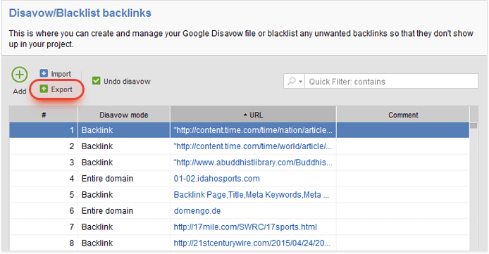 Disavowing bad links to your site