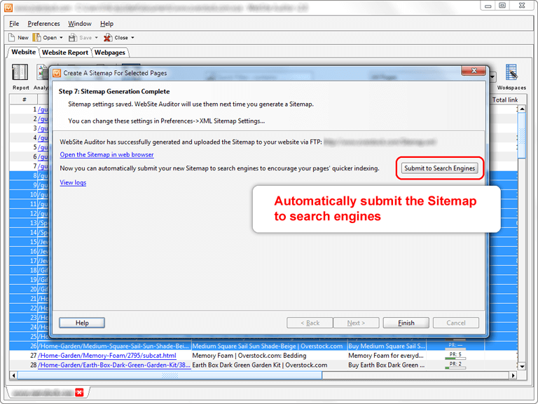 build xml google sitemaps with new website auditor 2 8