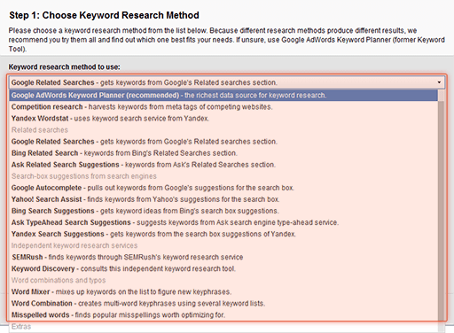 16 mechanisms of keyword suggestion