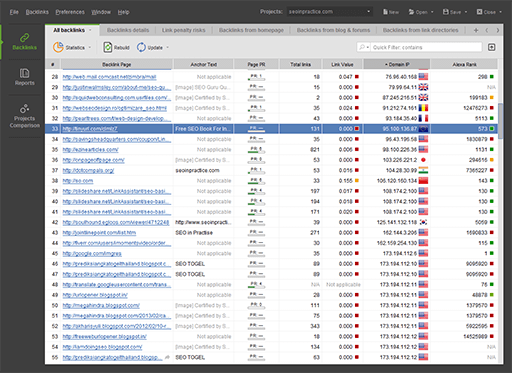 Screenshot of SEO SpyGlass 4.1.3