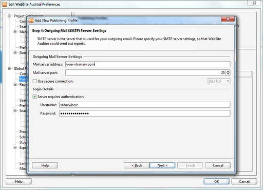 Configure SMTP Settings