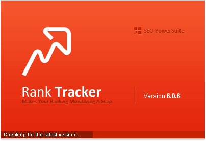 Rank Tracker start-up screen