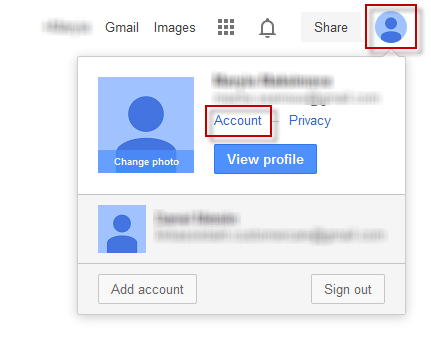 Go to your Google account settings
