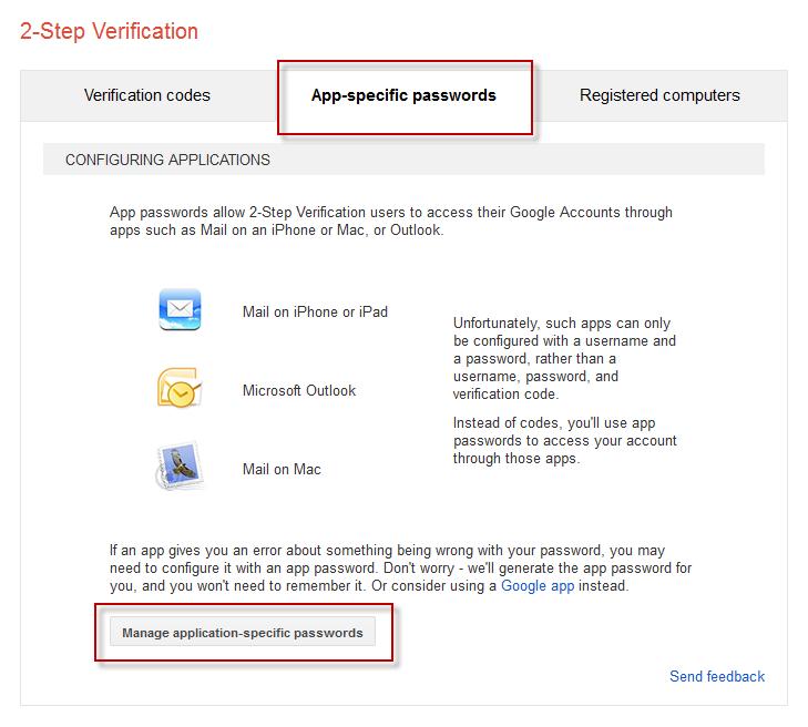 Manage app-specific passwords