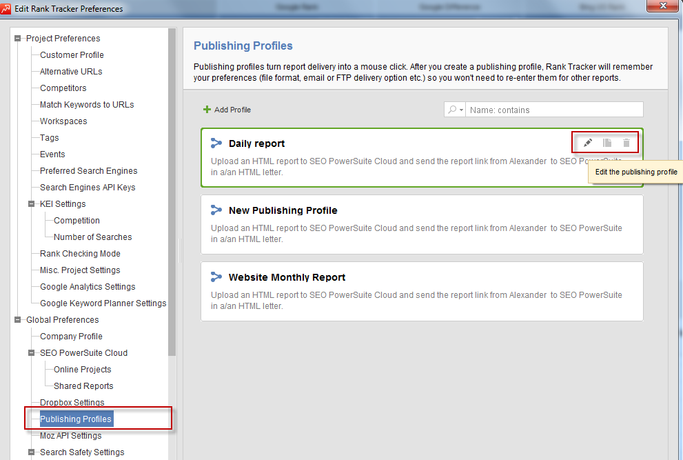 How to edit e-mail templates in publishing profiles - SEO PowerSuite ...