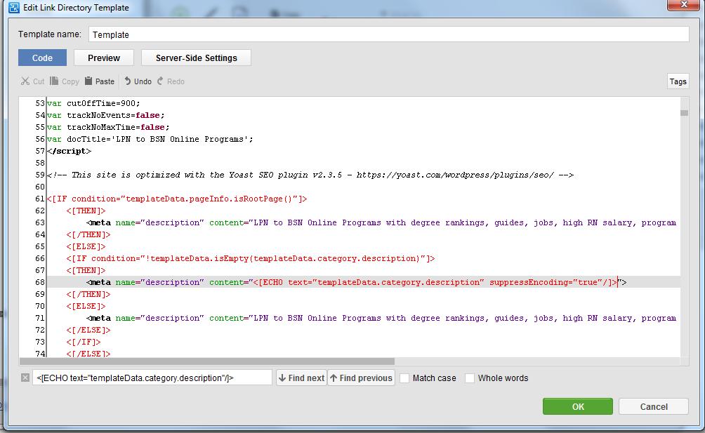 Enable encoding suppression