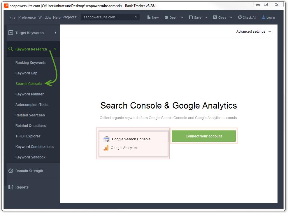 Search Console / Google Analytics