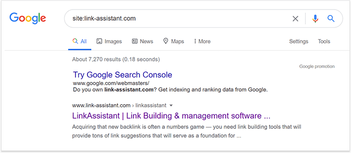Check how many pages are still indexed on Google