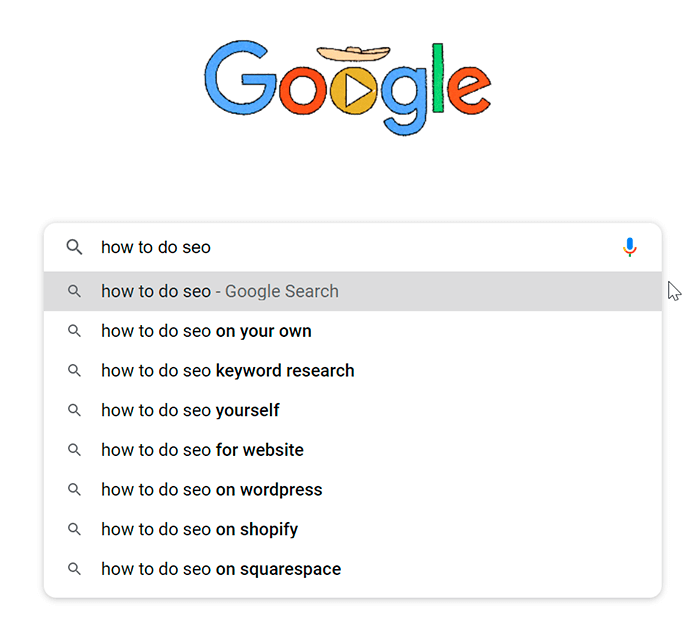 Google Search suggest feature