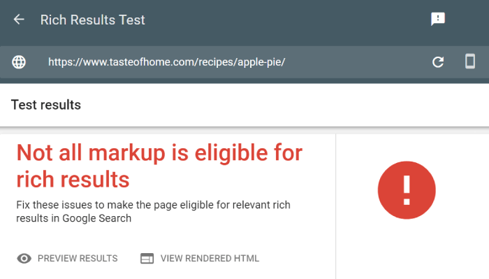 Rich Results Test from Google