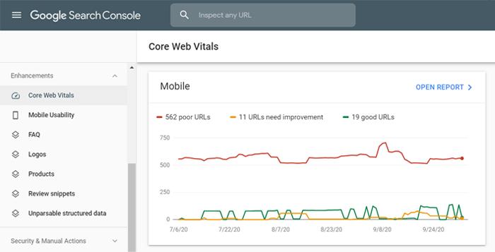 Audit for Google's Core Web Vitals factors