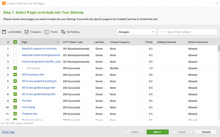 Create your sitemap and submit it to search engines