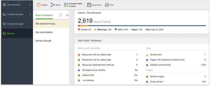 Audit your site SEO health regularly